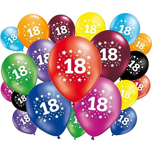 FABSUD 20 Globos Cumpleaños 18 Años: Amazon.es: Juguetes y ...