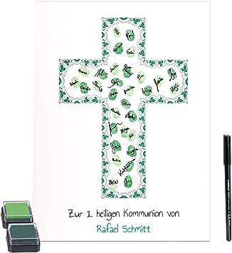 Fisch Kreuz Symbol Geschenke Personalisiert zur Kommunion