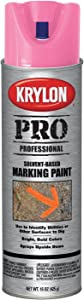 Krylon K07308000 Solvent-Based Contractor Marking Paint, Fluorescent Hot Pink, 15 Ounce