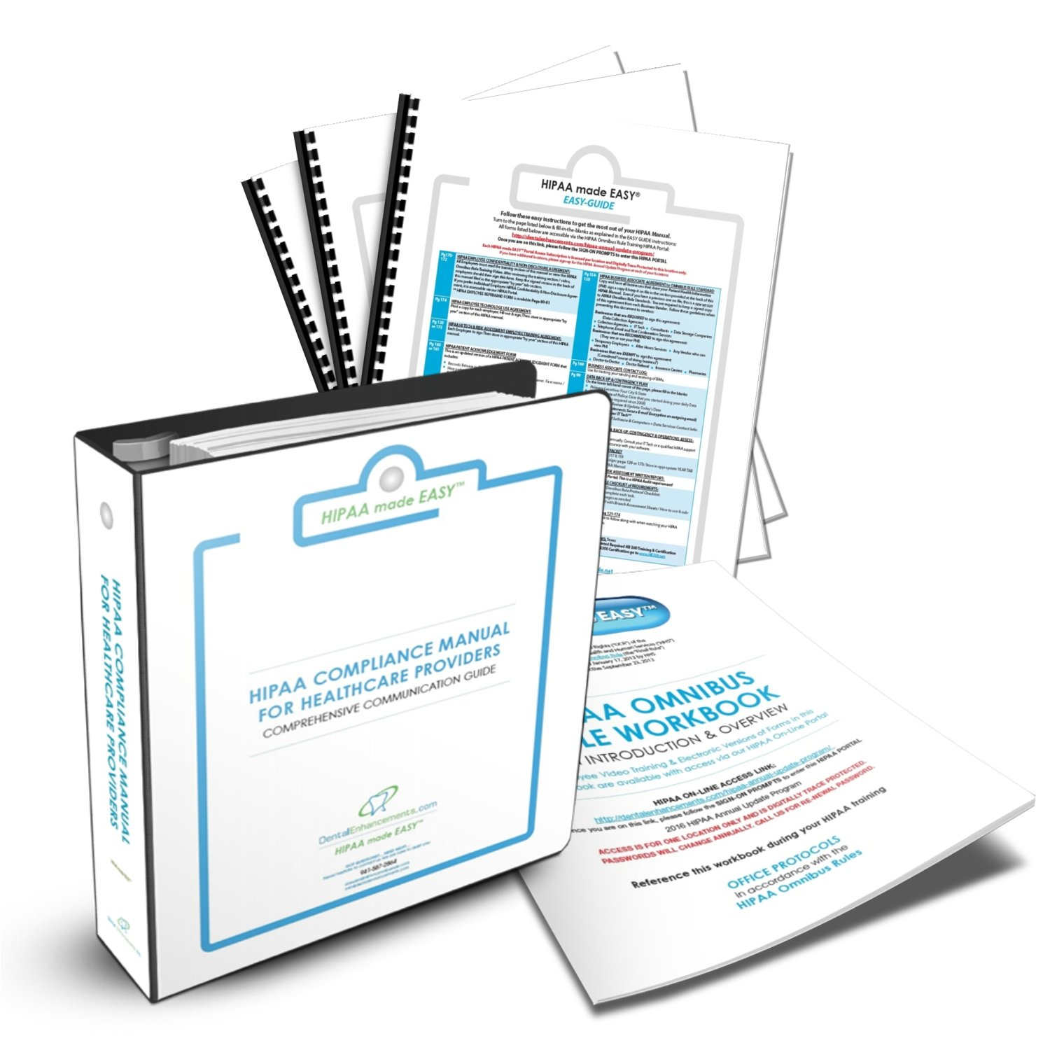 2021 HIPAA COMPLETE COMPLIANCE PKG By HIPAA Made EASY includes HIPAA Compliance Manual, Training Video, eForms to Omnibus Rule Hi Tech Standards