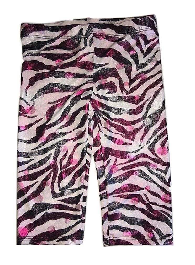 Mi Parti Girls Sparkle Zebra Capri Leggings Sizes 4-10