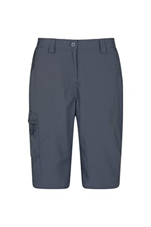 d5091b679a Mountain Warehouse Explore Womens Long Shorts - Ladies Hiking Shorts Dark  Grey 2