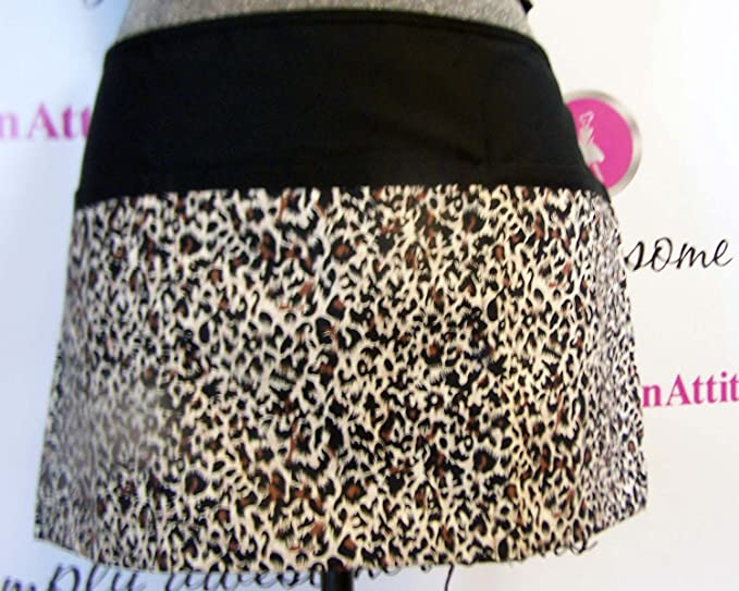 Brown cheetah 3 pocket waist aprons server waitress waiter bistro apronattitudes