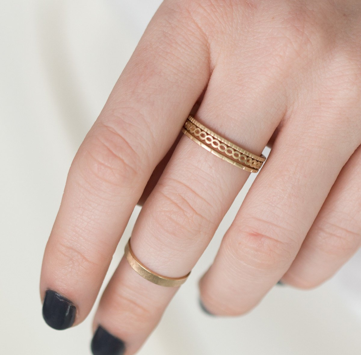 Amazon.com: Open Bead Stacking Ring with Open Scalloped Edges: Handmade
