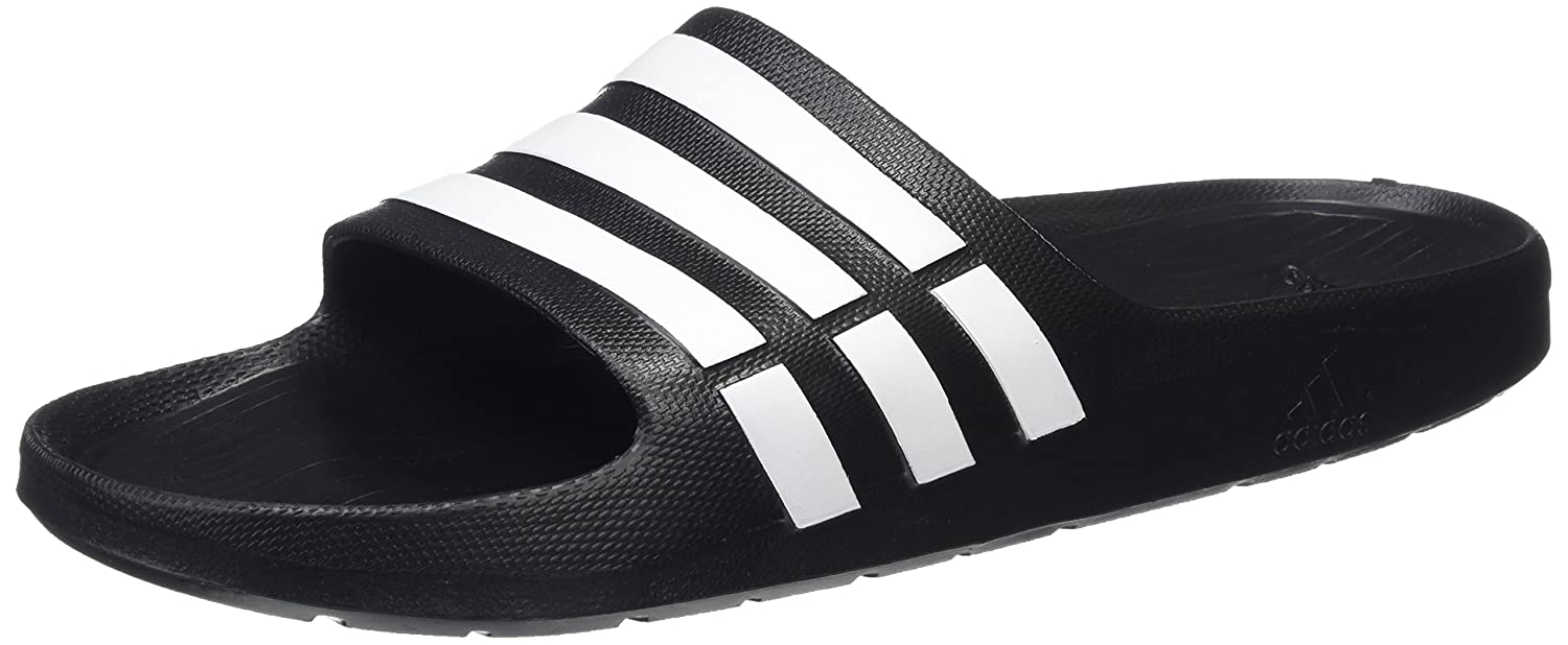 f63e0aea8eebbb adidas Unisex Adults  Duramo Slide Beach   Pool Shoes  Amazon.co.uk  Shoes    Bags