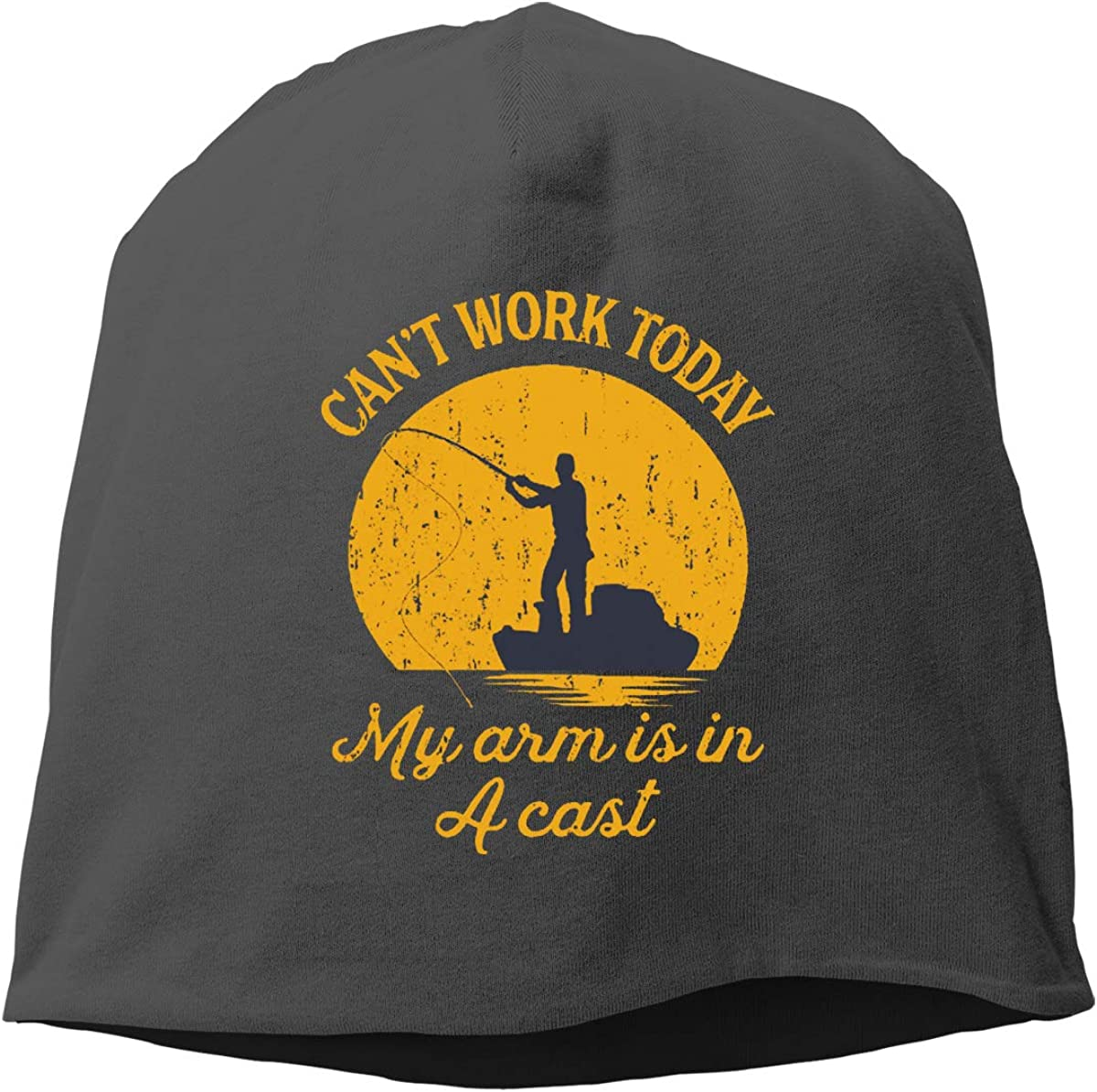 Cant Work Today My Arm is in A Cast Skull Cap Helmet Liner Beanie Cap for Men Hip Hop Hedging Head Hat
