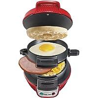 Hamilton Beach 25476 Breakfast Electric Sandwich Maker, Red (Renewed)