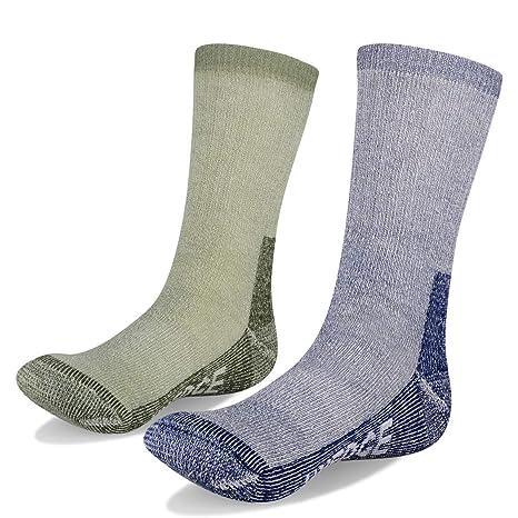 YUEDGE Hombre Calcetines de Lana - Gruesa Suave Cómodo Calcetines de Lana para El Senderismo en