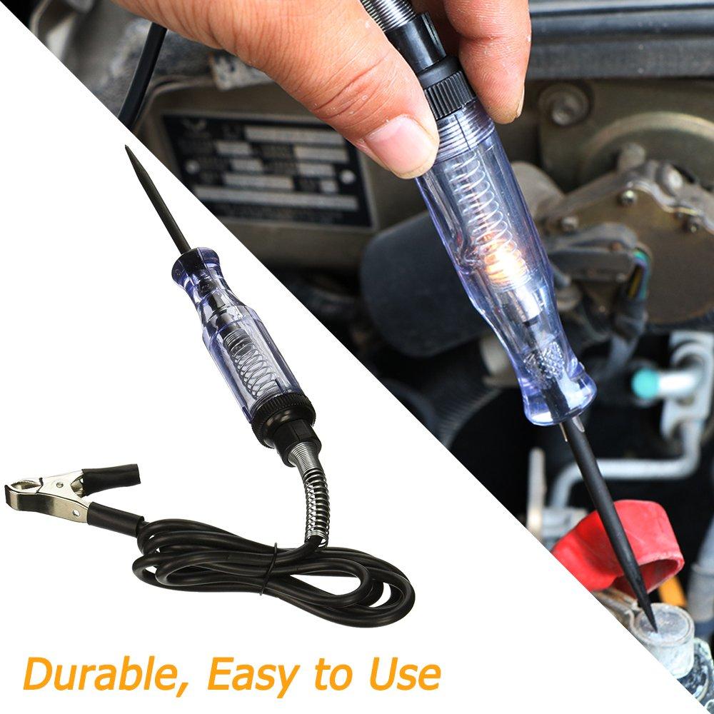 SUV professionelles Spannungspr/üfger/ät mit Kontrollleuchte RV f/ür Limousine Fahrzeugspannung f/ür Durchgang LKW Sourceton-Spannungsdurchgangs- und Strompr/üfger/ät 6V-24V