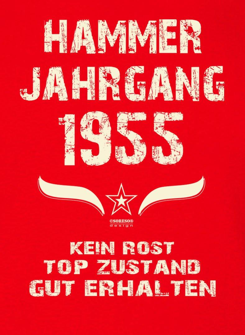 Geschenk Zum 63 Geburtstag Grillschurze Hammer Jahrgang 1955 Farbe