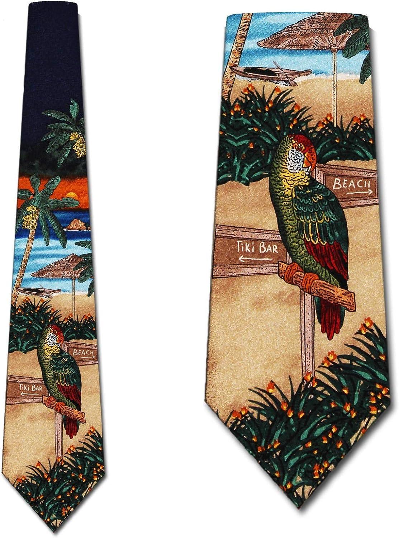 Mens Tropical Parrot Tiger Fashion Casual Tie Necktie