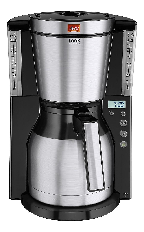 Melitta Look IV Therm Timer Caffettiera a Filtri con Caraffa Isotermica, 1000 W, 15 Cups, plastica, Bianco 6738037