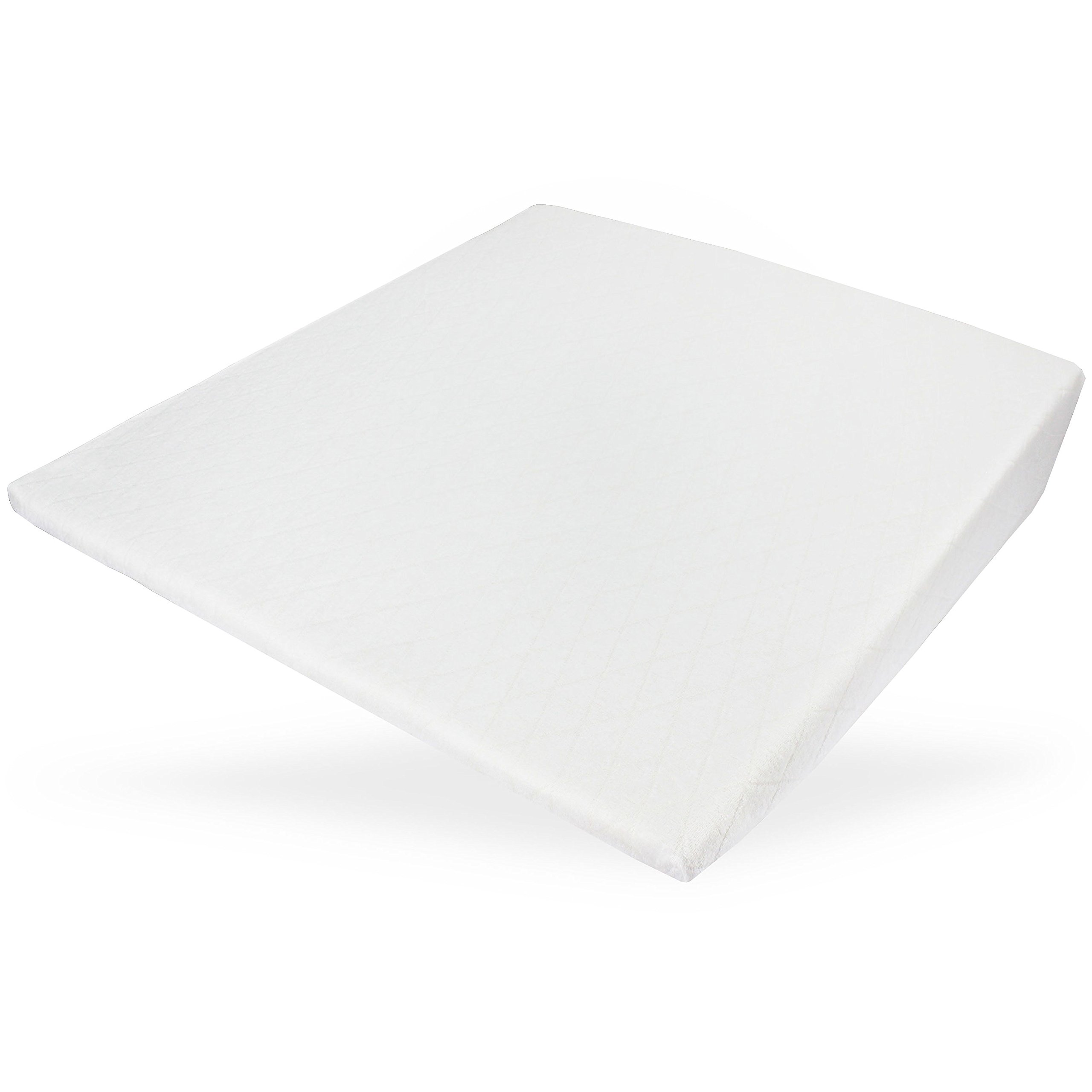 Acid Reflux Wedge Pillow with Memory Foam Overlay and Removable Microfiber Cover''BIG'' by Medslant. Recommended size for GERD and other sleep issues.