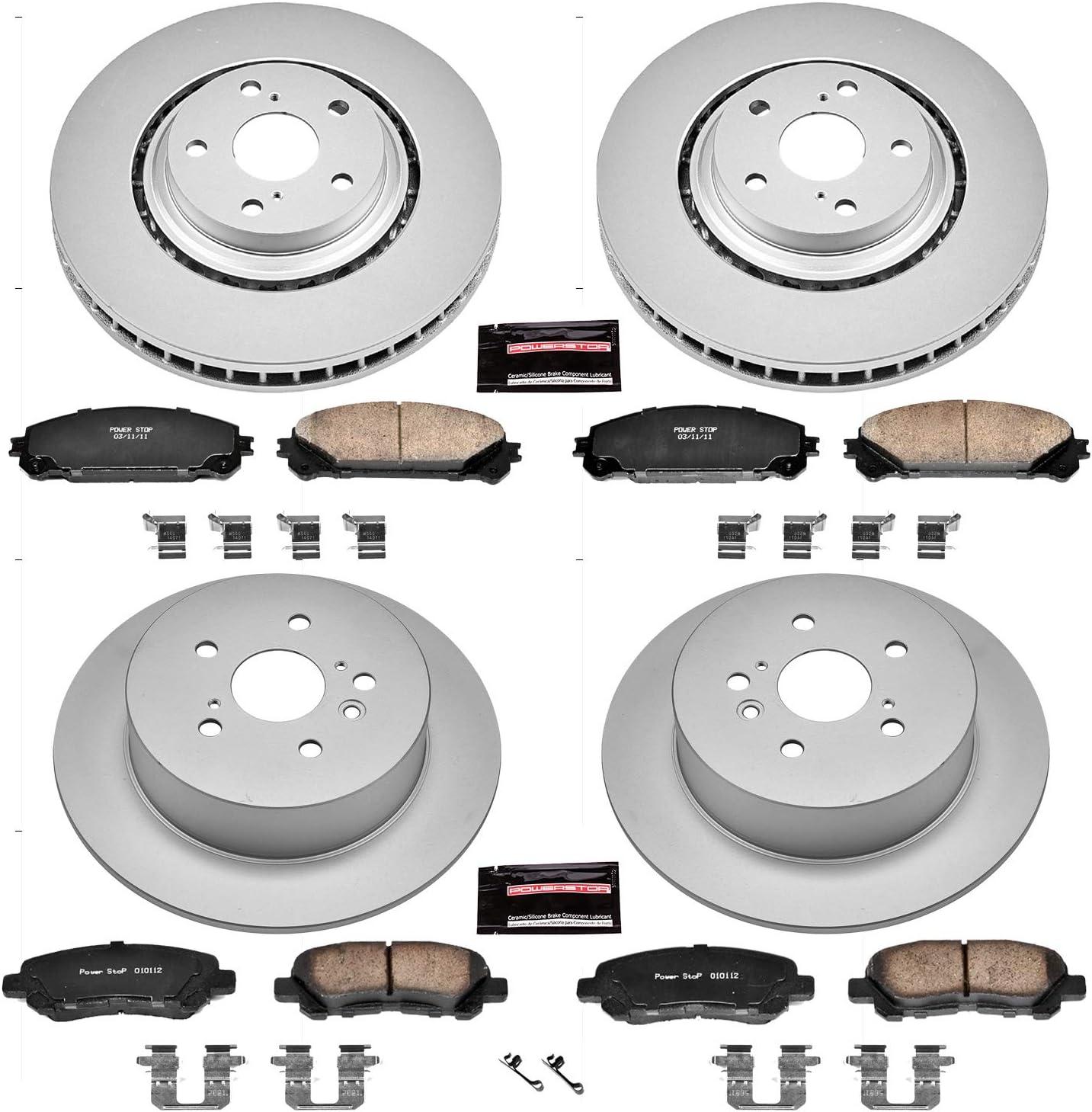 Power Stop KOE8420 Autospecailty Replacement Front Brake Kit-OE Brake Rotor /& Ceramic Brake Pads