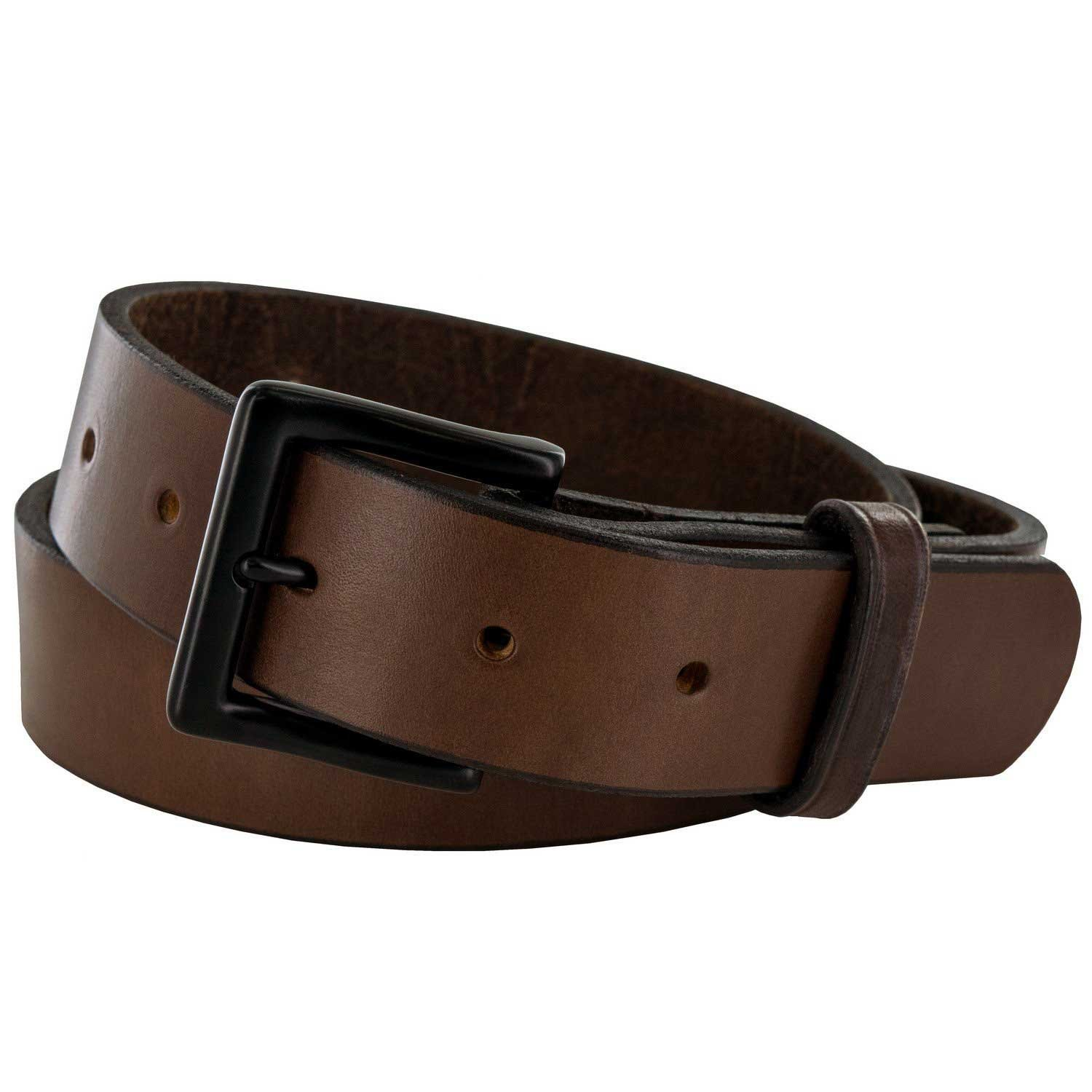 Hanks Everyday - No Break Thick Leather Belt - Mens Heavy Duty Belts- USA Made -100 Year Warranty - Brown - 34