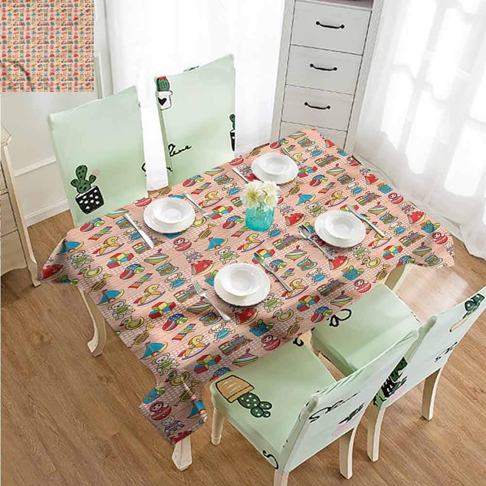 SLLART Rectangle Tablecloth Vinyl Kids,Toys for Little Children W50 xL80,for Party