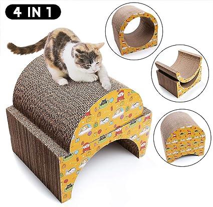Corrugated Cat Scrathing Pad Kitty Scratch Sofa Bed Lounge PrimePets 2 Pack Cat Scratcher Cardboard with Catnip