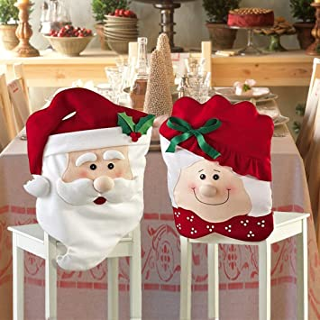 Amazon De Zjchao Weihnachten Mr Mrs Santa Claus Kuchen