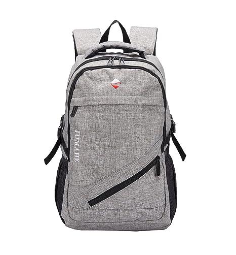 Maod Color sólido juveniles mochila portatil ligera mochilas escolares Lienzo grande Bolsa de escuela 15.6 Pulgada