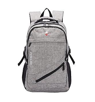2e9336b597bf4 Maod Leinwand Freizeit Schulrucksack Jungen Rucksack Schule Daypack  Laptoprucksäcke 15 Zoll Schultasche Laptop Backpack (Grau
