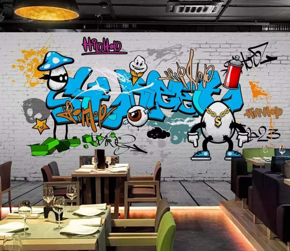 Mural Custom Wallpaper 3D Bar English Font Painted Graffiti