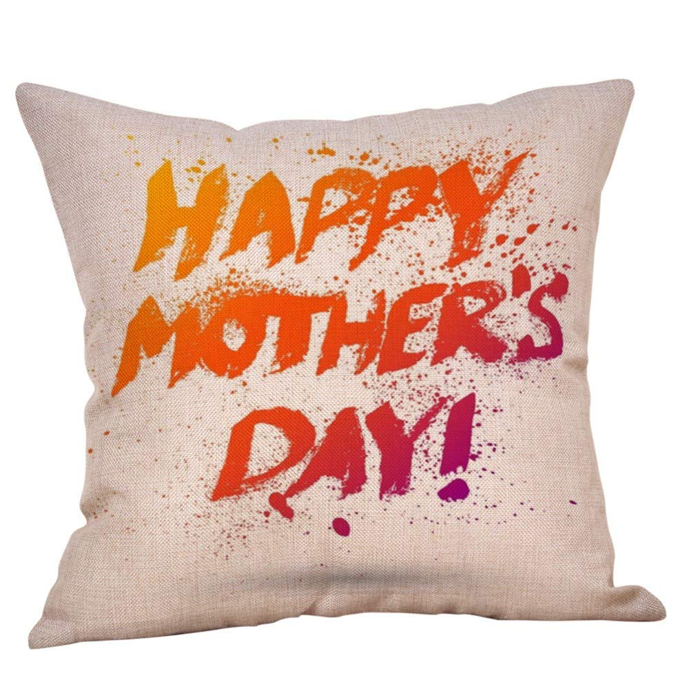 Happy Mother's Day Pillow case,EOWEO Happy Mothers' Day Pillow Cases Sofa Cushion Cover Home Decor Pillow Case(45cm×45cm,Multicolor-C)