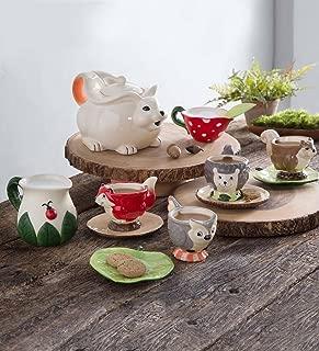 product image for Magic Cabin Children's Food Safe Ceramic Woodland Friends 12 Piece Tea Set