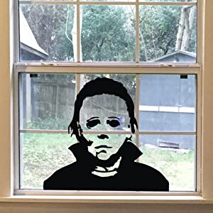 FlyWallD Halloween Holiday Decals Michael Myers Horror Living Room Sticker Funny Door Window Mirror Vinyl Art Décor