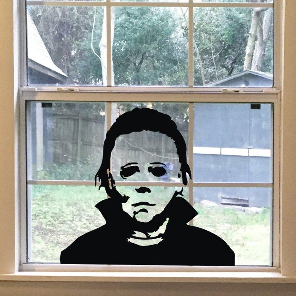 FlyWallD Halloween Holiday Decals Michael Myers Horror Living Room Sticker Funny Door Window Mirror Vinyl Art Decor by FlyWallD