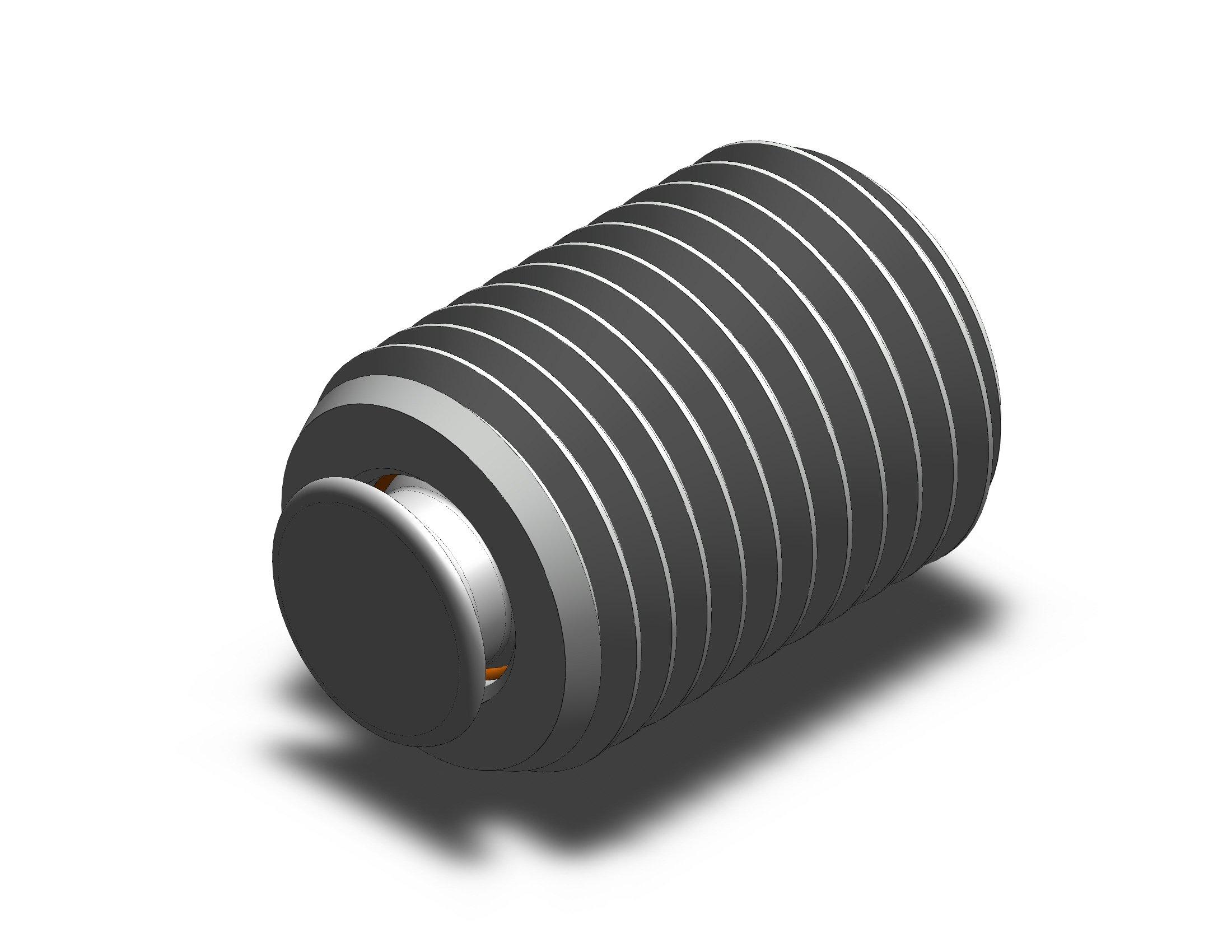 Fairlane TBU-1108X2-DC Threaded Design Swivot – 1-8 X 2 – Delrin Cone
