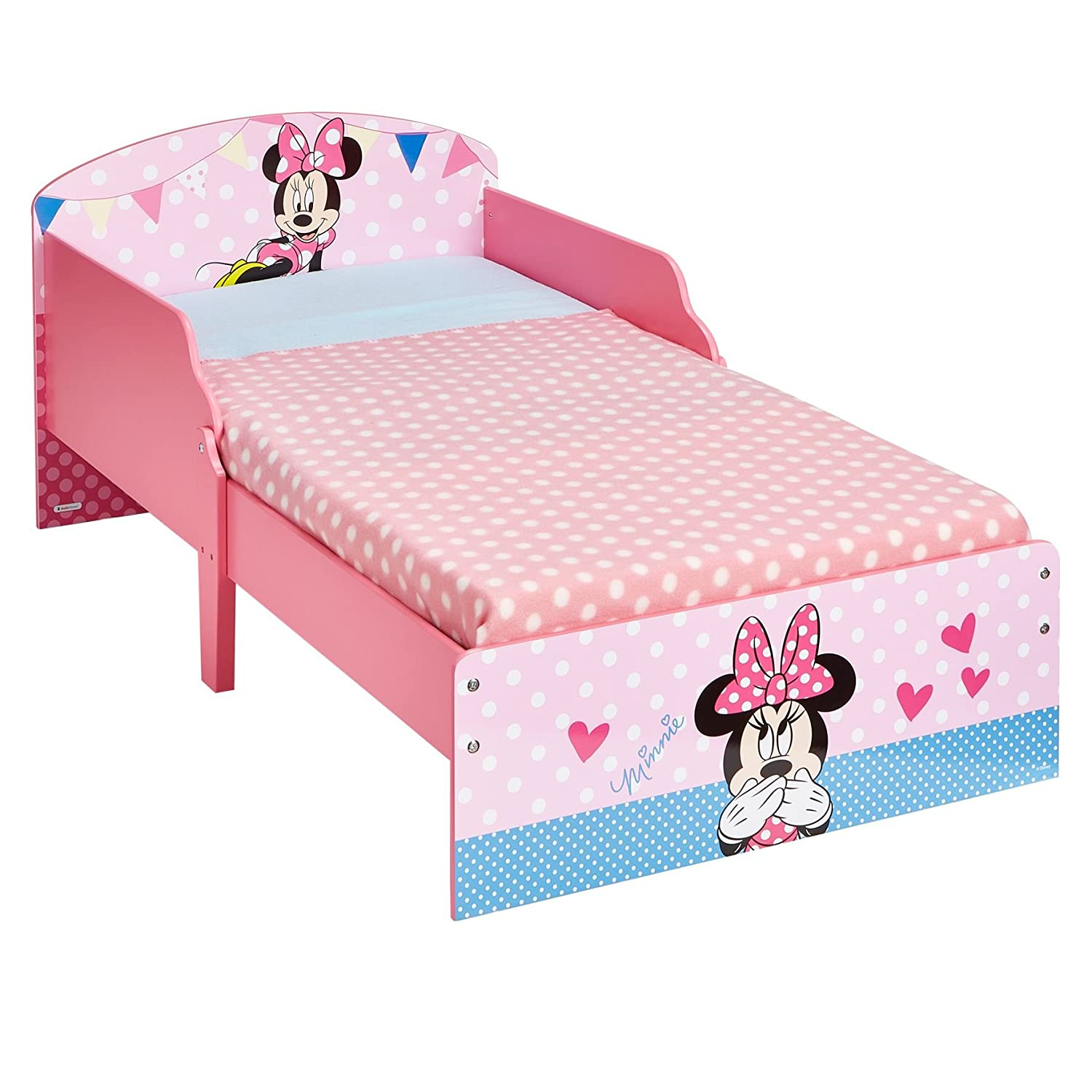 Disney Minnie Mouse Kids Toddler Bed By Hellohome Amazoncouk Kitchen