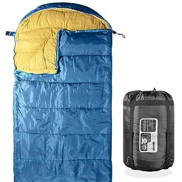 KHOMO Gear - 3 temporada - Saco de dormir para Camping, Senderismo y actividades al aire libre - Bolsa de compresión incluido: Amazon.es: Deportes y aire ...