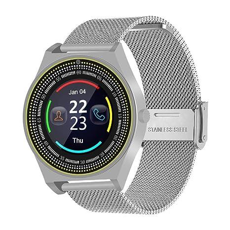 GUIGSI Reloj de Negocios Inteligente Contador de Pasos Reloj Deportivo electrónico con Seguimiento Smartwatches