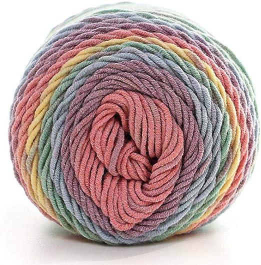Ouken Suave Natural Seda de la Leche del Hilo de algodón Grueso ...