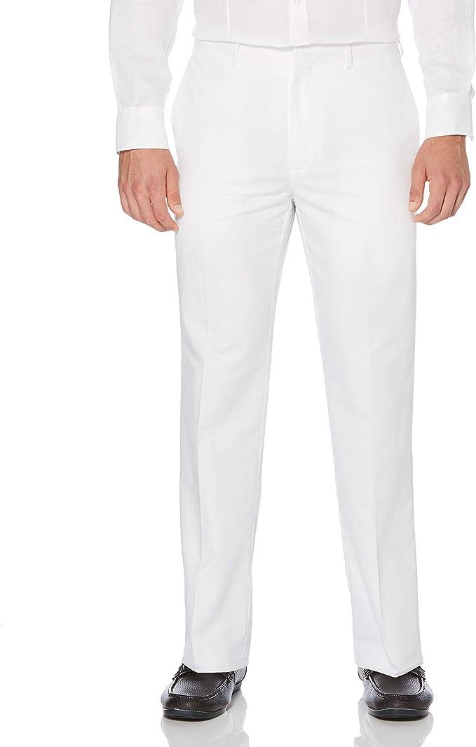 1930s Mens High Waisted Pants, Wide Leg Trousers  Linen-Cotton Herringbone-Textured Pant Cubavera Mens $52.80 AT vintagedancer.com