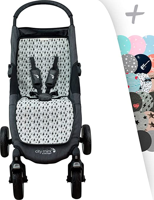 Janabebé Mat for Baby Jogger City Mini and Joolz (Black Rayo)