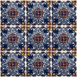 Ceramic Talavera Mexican Tile 4x4'', 9 Pieces (NOT Stickers) A1 Export Quality! - EX414