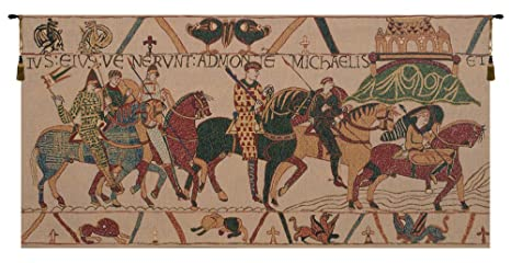 Bayeux Mont St Michael Belgian Tapestry Wall Hanging