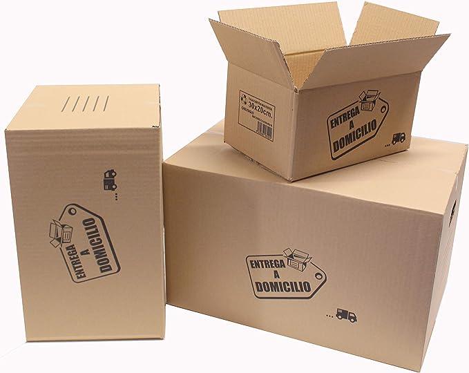 Chely Intermarket, Cajas de cartón para mudanzas 40x30x25cm (Pack 20uds) Disponible en varias dimensiones | Canal simple de alta calidad | Fabricadas en España | 100% reciclables (40x30x25-5,10): Amazon.es: Oficina y papelería