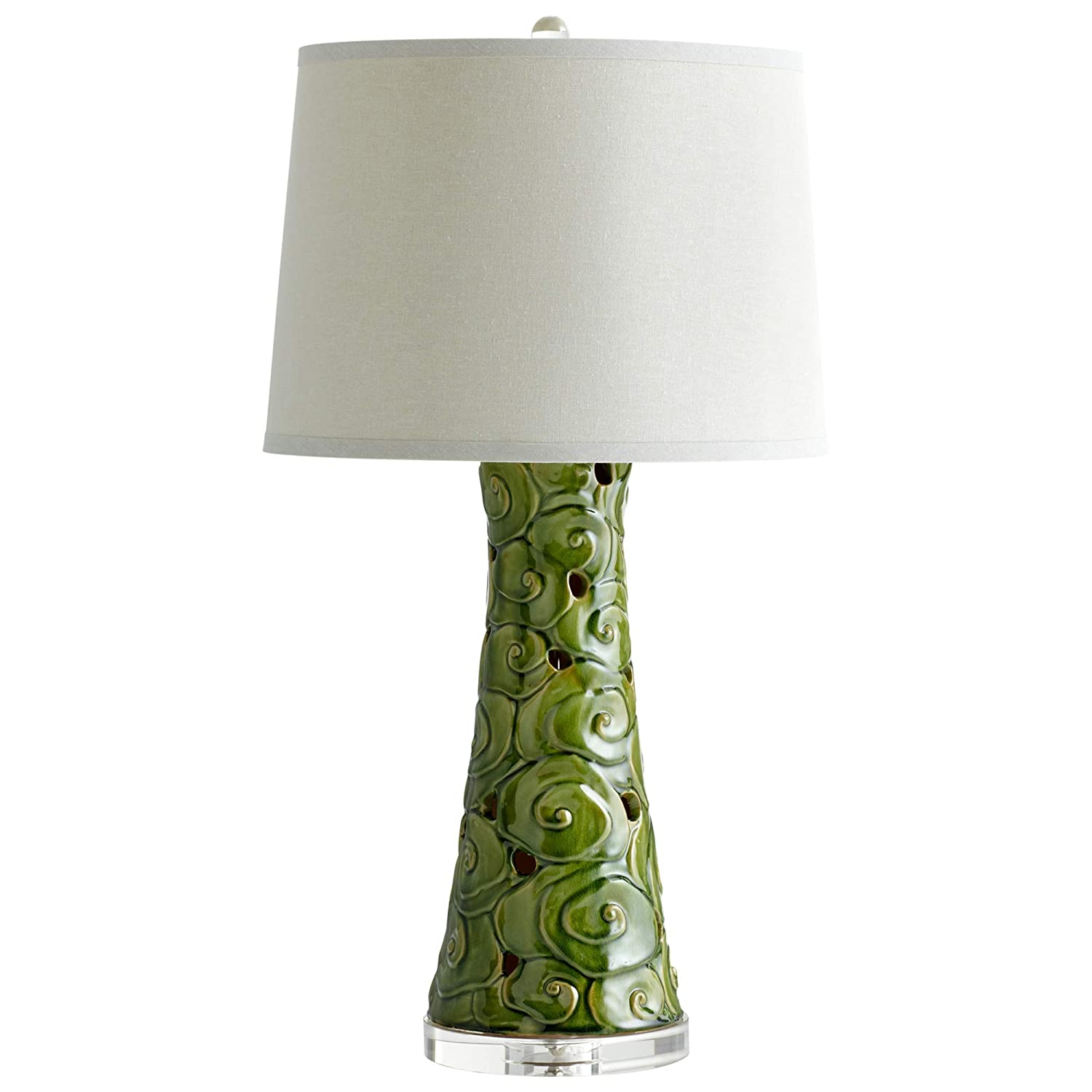 Amazon Com Mid Century Modern Table Lamp Green Home Improvement