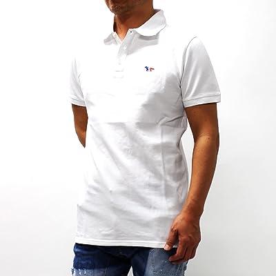 (メゾン キツネ)MAISON KITSUNEトリコロールキツネ刺繍 鹿の子ポロシャツ【ホワイト】AM00200 AT1506 WHITE [並行輸入品]