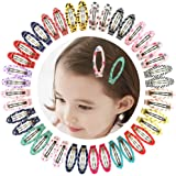 """Ruyaa 2"""" Snap Clips No Slip Wrapped Hair Barrettes for Toddlers Girls Kids Women Hair Accessories (40pcs Assorted)"""