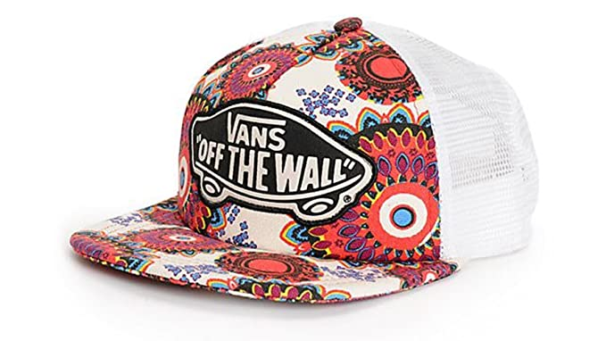 249f50e8b58 Vans Off The Wall Women s Beach Girl Trucker Snapack Hat Cap - Geo ...