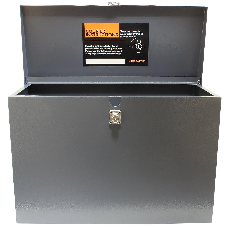 Grigio Hardcastle Cassetta in Metallo Grande per pacchi con Serratura