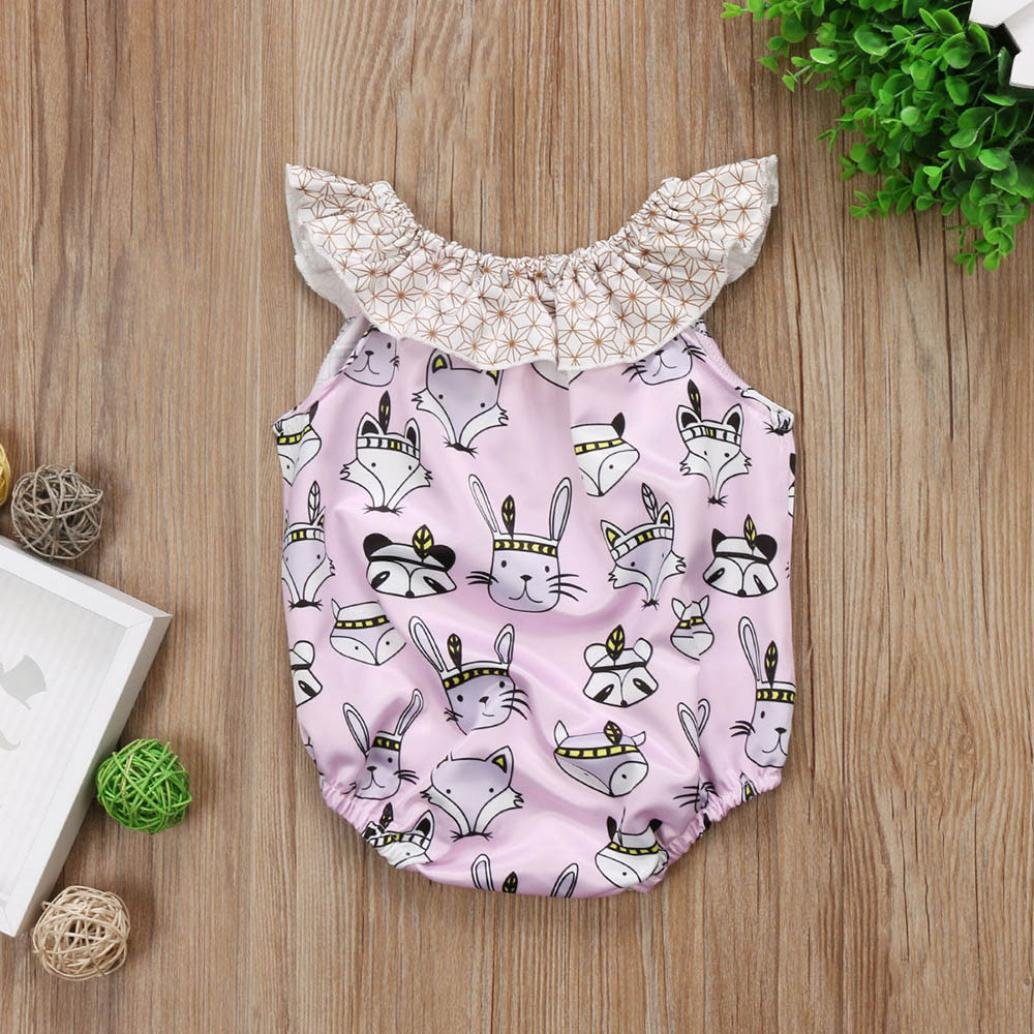 FORESTIME/_baby clothes boy FORESTIME Infant Baby Girls Easter Cartoon Rabbit Print Romper Jumpsuit Outfits