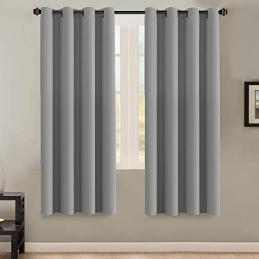 Amazon Com H Versailtex Insulated Thermal Blackout 72 Inch Long Grey Curtain Panels Pair Nickel Grommet Window Drapes For Bedroom Living Room Dove Gray Set Of 2 Furniture Decor