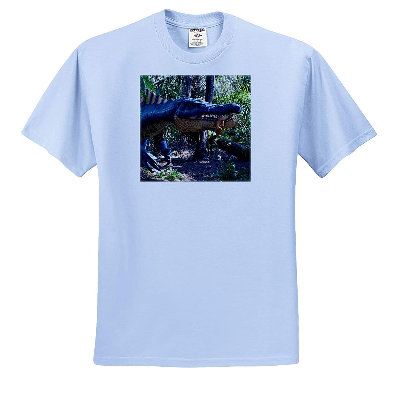 3dRose Susans Zoo Crew Animal Fish Eating Dinosaur Mouth T-Shirts