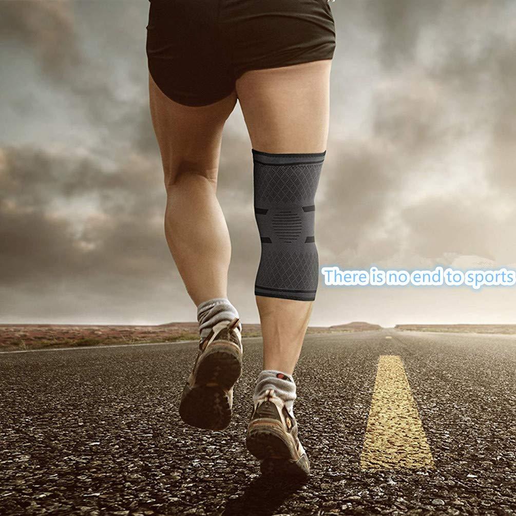Gelenkschmerzen und Arthrose Ideal für Laufen Bequem Bodybuilding und die alltägliche Nutzung Kompressionsbandage Single zimohe Kniebandage für Sport Atmungsaktiv Strapazierfähig