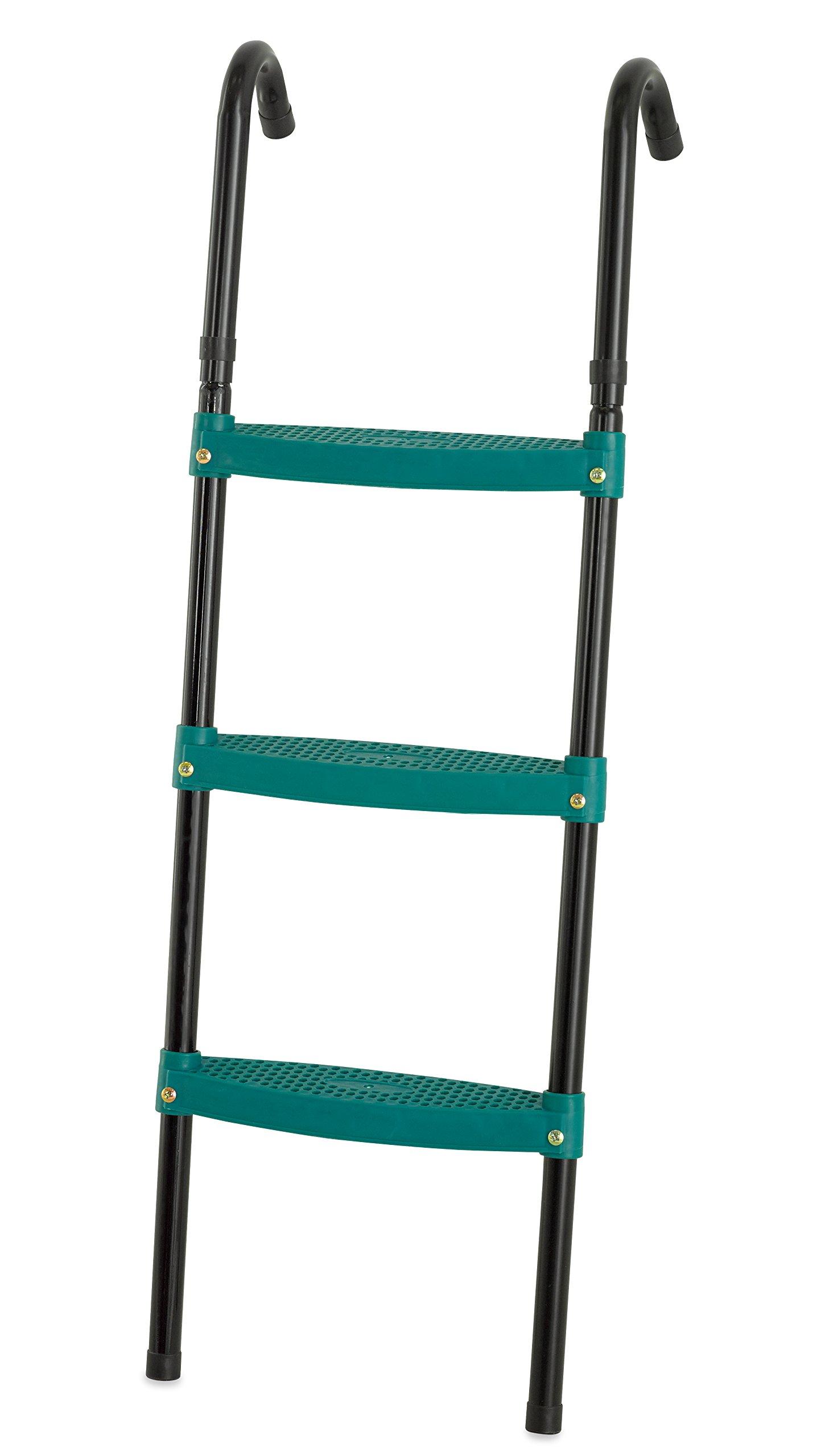 Upper Bounce 40'' Trampoline Ladder 3 Steps Foldable - Green by Upper Bounce