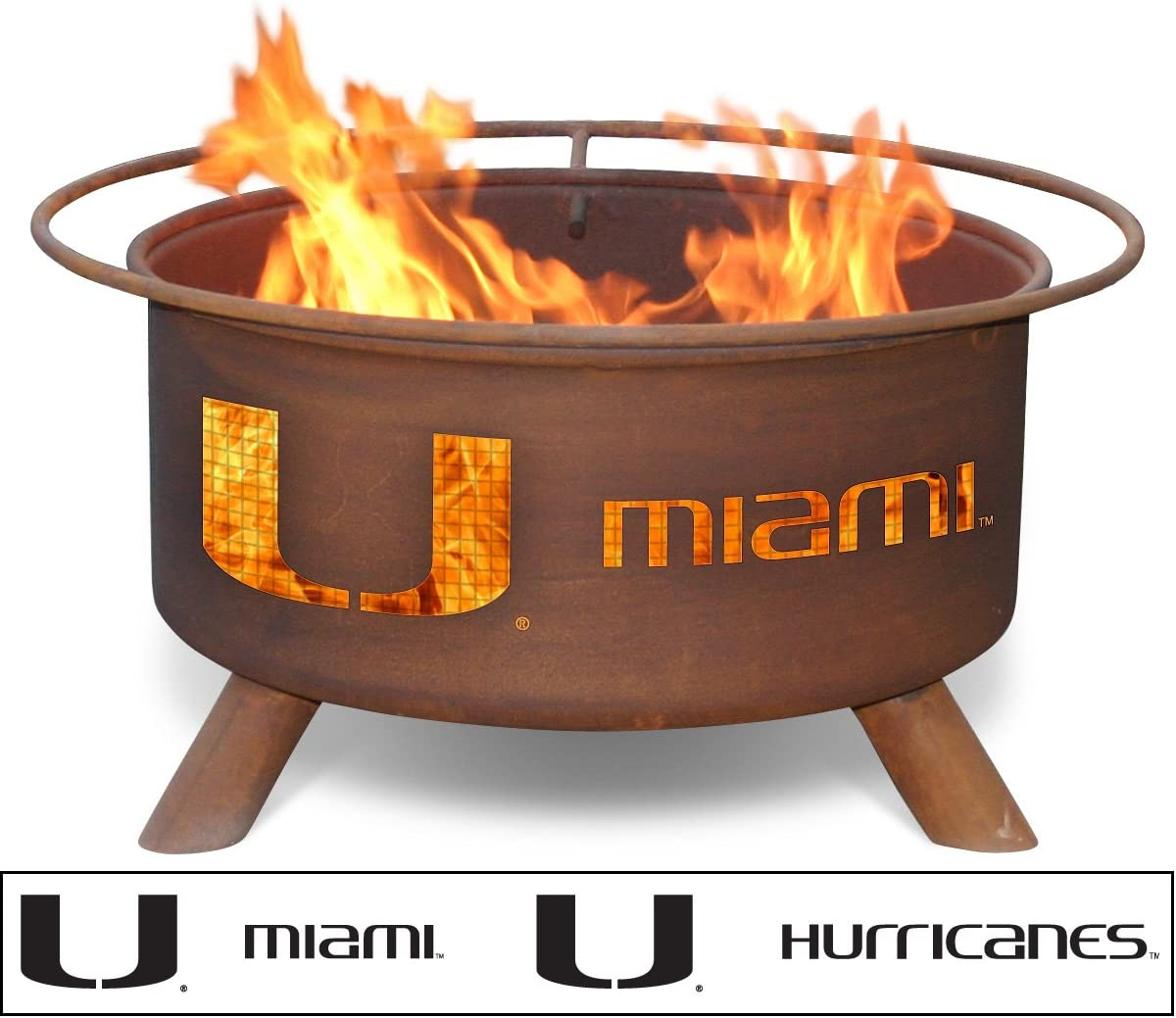 Patina Products F225, 30 Inch University of Miami Fire Pit